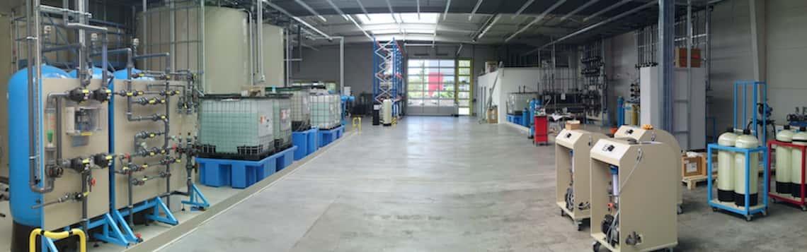 Produktionshalle der GROSS Wassertechnik GmbH
