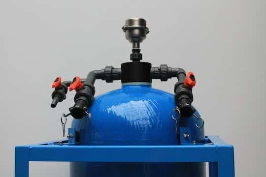 Mobile Ionenaustauscherkolonne mit einer hydraulischen Leistung von ca. 5m³/h