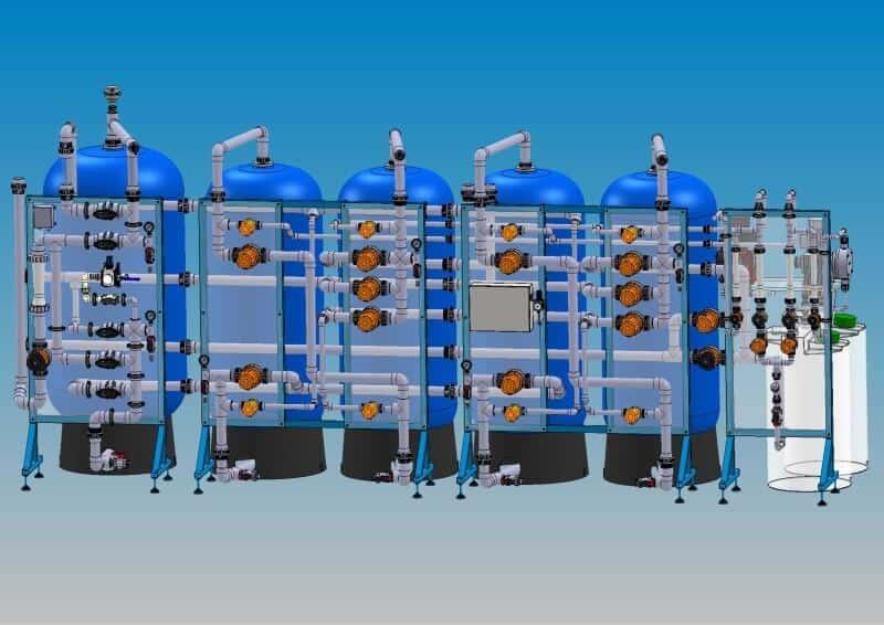 Anlage zur Prozesswasseraufbereitung mit Ionenaustauscher