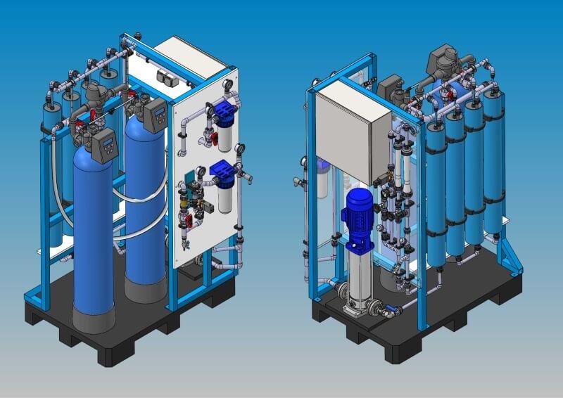 Umkehrosmoseanlagen zur VE-Wasseraufbereitung