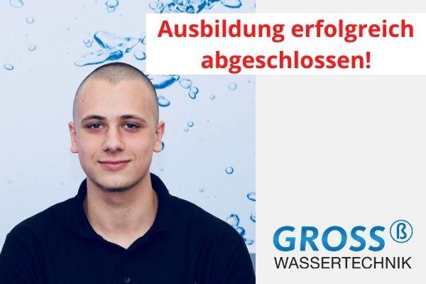 Ausbildung Robin Schumacher Gross Wassertechnik